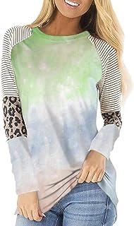 Miracle Women's Fashion Summer Autumn Casual Shirts Cotton Print Tunic Tops