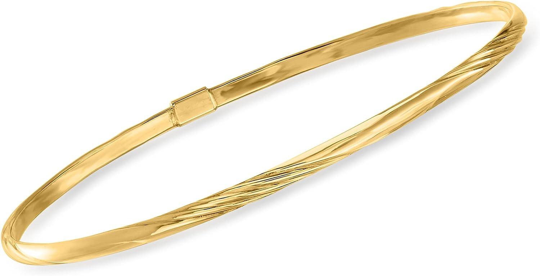 Ross-Simons Italian 14kt Yellow Gold Bangle Bracelet