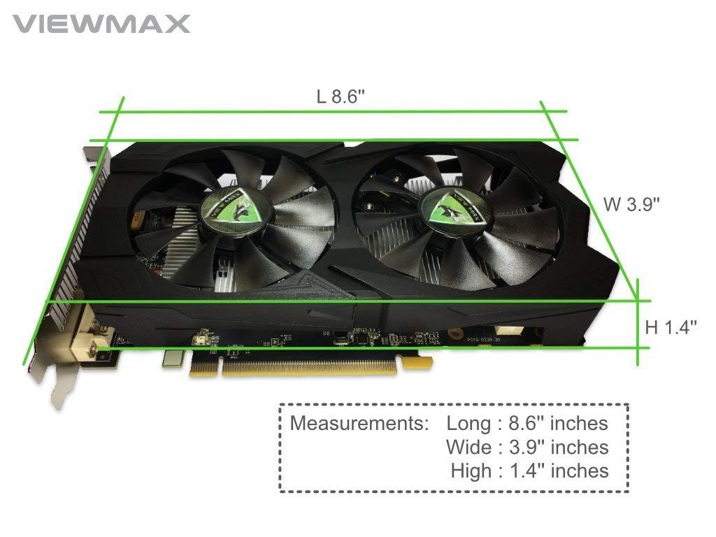 HDMI DisplayPort and Dual Cooling Fan Gaming Edition VA5615RF41-TBMRA-BS2 Biostar Radeon RX 560 4GB GDDR5 128-Bit DirectX 12 PCI Express 3.0 DVI-D Dual Link