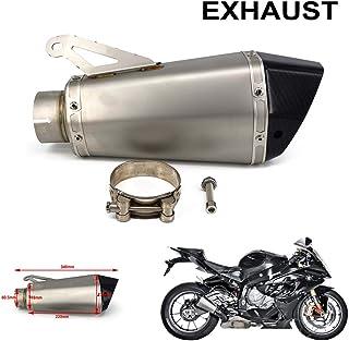 YSMOTO Motorrad Auspuff Endschalldämpfer für BMW S1000 S1000R S1000RR 2010–2014 10–14 Motorrad Street Bike