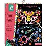 Janod - Les Ateliers Du Calme - Juego de Máscaras y Gafas de Animales para Niños, Se Pueden Rascar, Juguete Creativo, para Habilidades Motrices Finas, A partir de 7 años, J07966