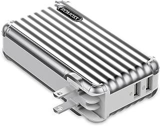 モバイルバッテリー 10000mAh 大容量 コンセント ROMOSS 非常用 スーツケース型 AC充電器 PSE認証済 iPhone iPad Android対応 UP10 グレー
