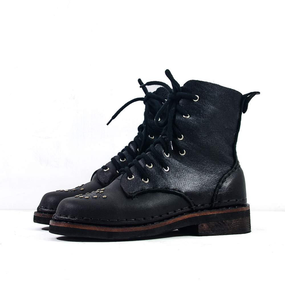 The Ducat - Shoemaker Handmade Cowhide Hand-Sewn 2021new shipping Outlet ☆ Free Shipping free Leather Hig