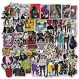BLOUR 50 Uds.Pegatinas de Dorohedoro de Anime japonés para monopatín, Nevera, Guitarra, portátil, Equipaje de Viaje, Juguete, calcomanías de Graffiti, Pegatina