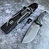 Tactical Knife Hunting Knife Survival Knife 9.5' D2 Steel Outdoor Survival Fixed Blade Knife Fire Starter Cord Cutter Knife Sharpener Camping Accessories Camping Gear Survival Gear Tactical Gear 79729