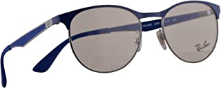 Ray-Ban RB 6365 Eyeglasses 51-17-145 Gunmetal Electric Blue w/Demo Clear Lens 2889 RX RX6365 RB6365