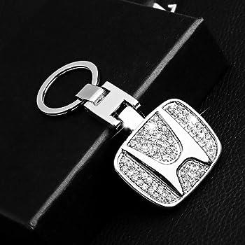 Honda BearFire Car Logo Emblem Key Chain Key Ring Metal Alloy BV Calf Style Black Leather Gift Decoration Accessories