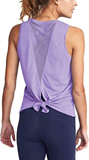 Bestisun Women's Workout Clothes Open Back Muscle Shirts Athletic Yoga Tank Tops Gym Sports Wear