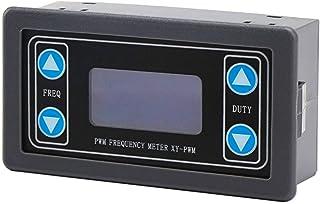 ZHITING Signaalgenerator, DC 3.3-30V Functiegenerator 5-30mA Lcd-scherm PWM-pulsfrequentie Inschakelduur Rechthoekige golf...