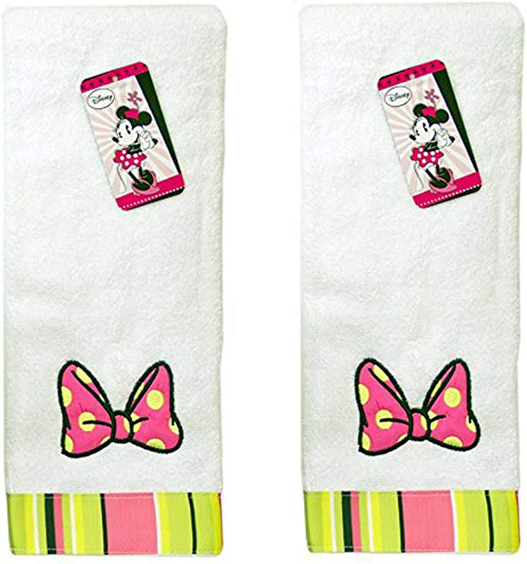 Jay Franco Disney Minnie Mouse Brites Cotton Hand Towel White Hand Towel 2 Pack