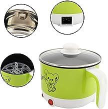 Hoseten Mini Casserole électrique 110V 1,8 Litre, Double Pot en Acier Inoxydable Anti-Chauffage, pour étudiants(Mint Green)
