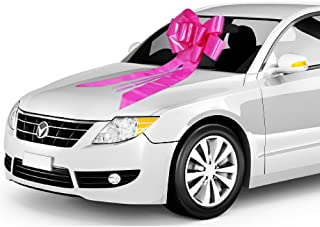 Zoe Deco Big Car Bow with 2 Gold Accessory Bows (23