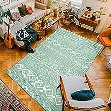 Estilo Marroquí, Dormitorio De Sala De Estar De Alfombra Nórdica, Cojín De Sofá Simple, Alfombra De Piso De Oficina para Dormitorio 120 x 180cm