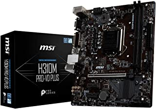 MSI H310M Pro-VD Plus - Placa Base (Chipset Intel H310, DDR4 Boost, Realtek LAN, Audio Boost, VGA, X-Boost, soporta Intel pocesadores) color negro