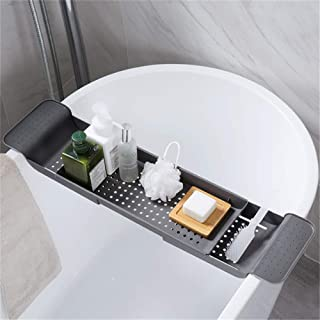Youlin Badewannenablage multifunktional Kunststoff ausziehbar Halterung f/ür die Badewanne Pink