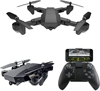 XFUNY RC Quadcopter WiFi FPV Remote G-Sensor Control Foldable Drone with 2.0MP HD & 120°Wide Angle & 720P Camera & LED Light & Phone Remote Control for Aerial Photography