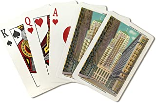 Chicago, Illinois - Exterior View of the Chicago Board of Trade Bldg; La Salle Street (Playing Card Deck - 52 Card Poker Size with Jokers)