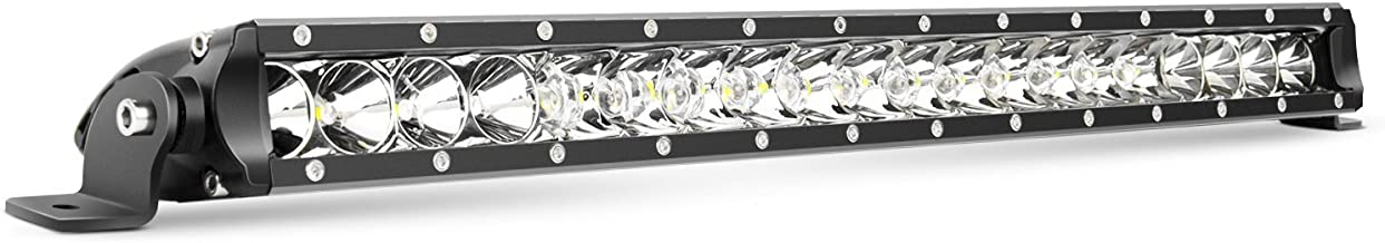 LED Light Bar Nilight 21inch 100W Spot & Flood Combo Single Row 9000LM Off Road 3D LED Fog & Driving Light Roof Bumper Light Bars for Jeep Ford Trucks Boat , 2 Years Warranty