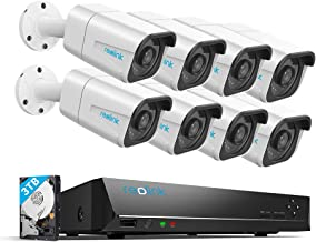 Reolink 4K 16CH PoE Video Surveillance Camera System, H.265, 8pcs 8MP PoE IP Security Cameras Outdoor with a 8MP 16-Channe...