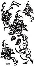 spestyle impermeable no tóxicos tatuajes temporales stickersblack rosa adhesivo de Tempoary impermeable Fashion Sexy