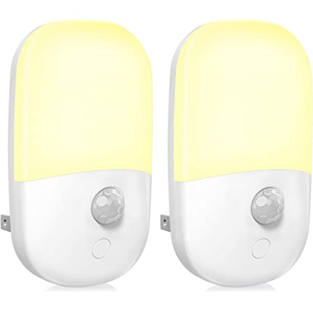 Compact LED Night Light with Motion Detector White for Socket Night Lamp