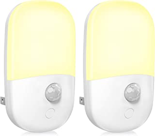 MAZ-TEK Plug in Motion Sensor Dimmable Night Light, Soft Warm White LED Nightlight with Dusk to Dawn Motion Sensor, Adjust...