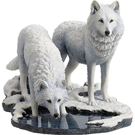 Winter Guardians by Anne Stokes Snow Wolves and Mistress Statue