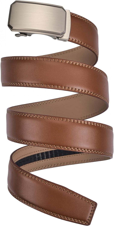 Popular standard BAJIE Industry No. 1 Men's Belt Leather Black Buckle Automatic