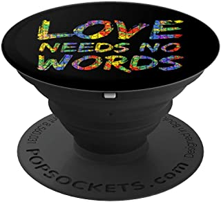 Love Needs No Words PopSocket Grip Colorful Autism Puzzle - PopSockets Grip and Stand for Phones and Tablets