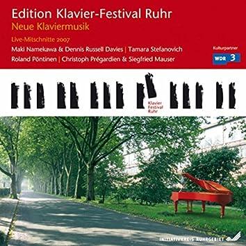 New Piano Music (Edition Ruhr Piano Festival, Vol. 17) (Live)