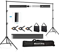 $49 » MOUNTDOG Backdrop Support Stand 10FT Adjustable Photography Studio Background Support System Kit with Carrying Bag for Pho...