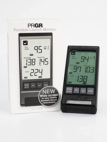 PRGR Black Pocket Launch Monitor HS-130A