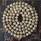DADATU Tibetano 108 Mantra Malas Nepal Viejo Naga Concha Concha Concha Abalorios Om Mani Pad Me Hum 9Mm