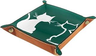 Vockgeng Chat Vert de Dessin animé Boîte de Rangement Panier Organisateur de Bureau Plateau décoratif approprié pour Burea...