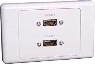 Generic HDMI Dual Wallplate Dual Cover with Flyleads
