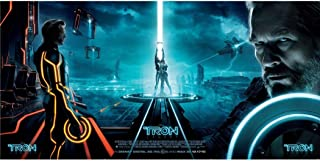 TRON Legacy Poster by Silk Printing # Size about (121cm x 60cm, 49inch x 24inch) # Unique Gift # 72EDA4