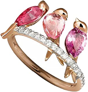 Mysky Exquisite Nana Ring Cubic Zirconia Diamond Nana Birthday Present