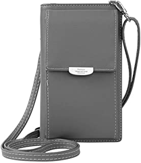 NYKKOLA Small Crossbody Bag Cell Phone Wristlet Purse Wallet Mini Handbag with Shoulder Strap For Women Lady Girls