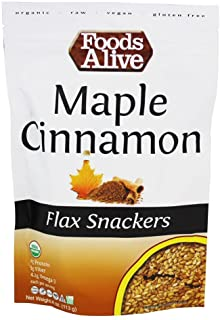 Foods Alive Organic Flax Crackers Maple and Cinnamon - 4 oz
