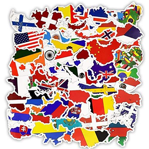 PMSMT 50100 Uds, Pegatina de Bandera Nacional de países, Juguetes para niños, fútbol, fanáticos del fútbol, calcomanía, Funda de Viaje para álbum de Recortes, Pegatinas para Ordenador portátil