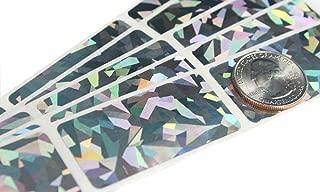 My Scratch Offs 1 x 2 Inch Hologram Silver Rectangle Scratch Off Sticker Labels - 100 Pack