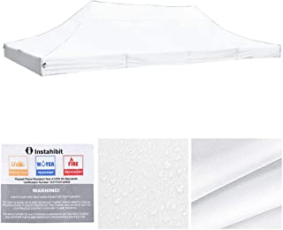 Yescom 10x20 ft EZ Pop Up Canopy Top Replacement Instant Patio Pavilion Gazebo Sun Shade Tent 550D Oxford Cover