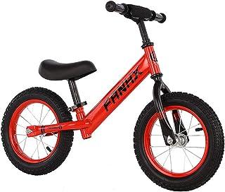 自転車 子供用 ストライダー キックバイク バランス トレーニング 子供の手と目の協調能力を向上させ 子供の脳の発達を促進する 子供用自転車 ランニングバイク キッズバイク 軽量 カッコイイ ベル スタンド付き ハンドルとサドルの高さ調節可能 ...