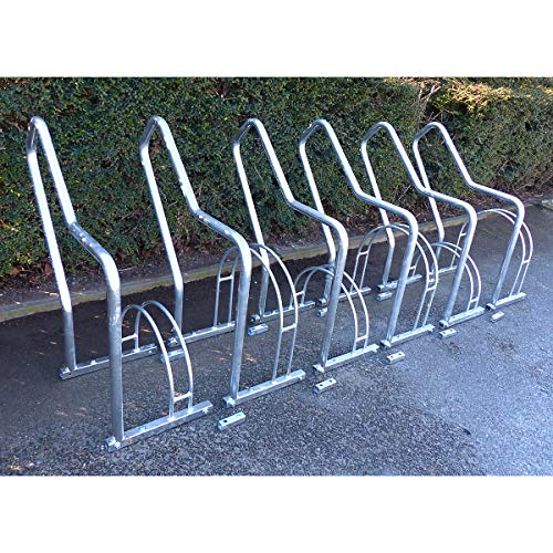 Fahrradständer mit Anlehnbügel - 6 Einstellplätze - feuerverzinkt - Anlehnbügel für Fahrräder Bügelparker Fahrradanlehnbügel Fahrradhalter Fahrradparker Fahrradständer Fahrräderständer Reihenständer Ständer für Fahrräder Zweiradparker
