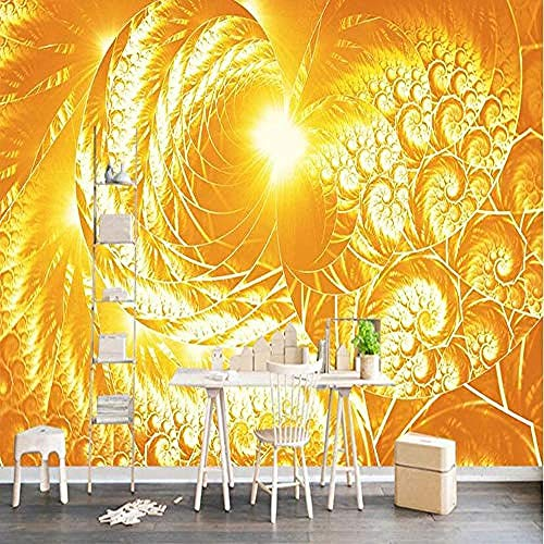 Fond D'Écran 3D Photo Murale Européenne Or Jaune Diamant Texture Photo Affiche Salon Chambre Restaurant Café Décoration Papier Peint-150 * 105Cm