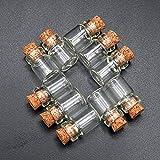 Odoria 1/12 Miniatur 10 Stück Glas Flaschen, Nahrung Jar mit Kork Puppenhaus Küche Zubehör