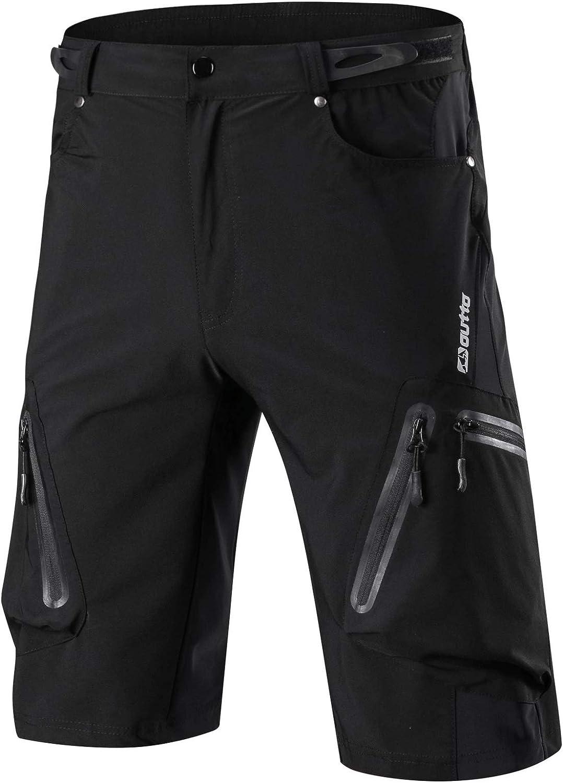 Ynport Men's Waterproof Loose Fit Breathable Shorts Mountain Bike Cycling Pants