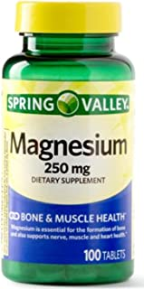 Spring Valley Magnesium 250 Mg 100 Tablets