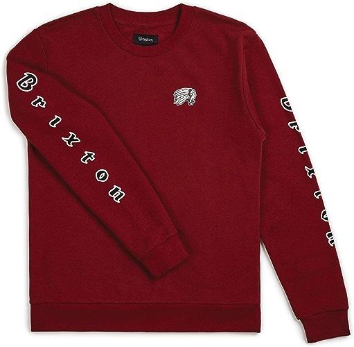 Brixton - Sweat-Shirt - Homme Rouge Bordeaux
