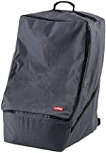 Luvdbaby Premium Car Seat Travel Bag for Air Travel - Padded Carseat Backpack for Airplane Gate Check in - Denim Color